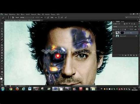 tutorial photoshop terminator photoshop cs6 terminator face tutorial hd 2013 very