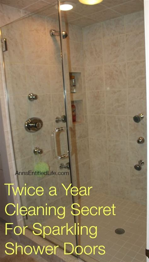 Glass Shower Door Cleaners A Year Cleaning Secret For Sparkling Shower Doors Them Shower Doors And Glasses