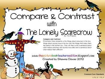 themes of the book lonely days freebie compare contrast with the book lonely scarecrow
