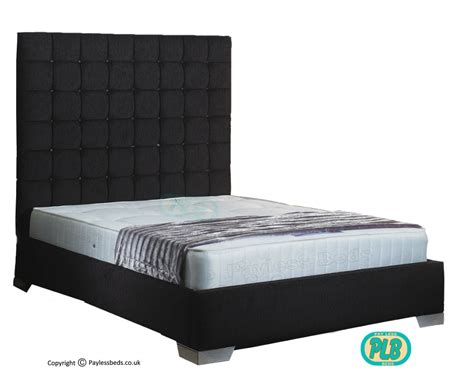 bed frames with high headboard copeland frame bed tall headboard crystal buttons