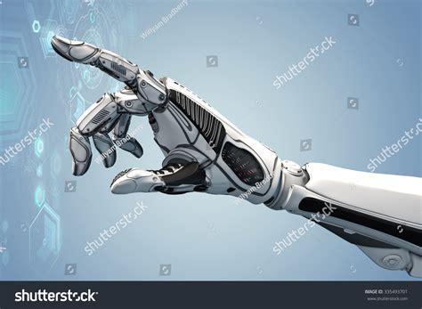 design concept of handheld nailer futuristic robotic human arm