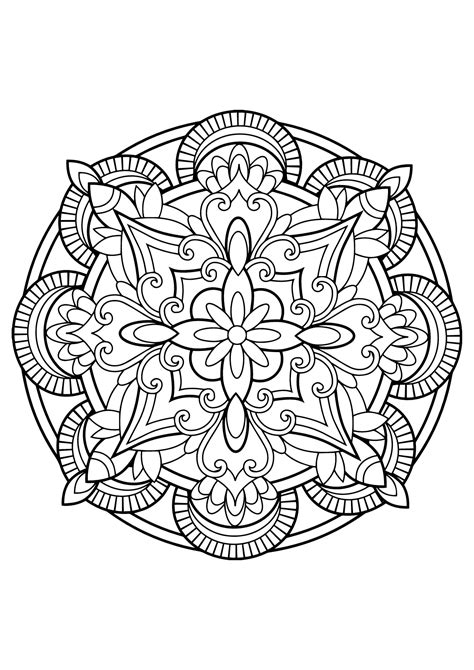 free mandala coloring pages for adults mandala from free coloring books for adults 23 m alas