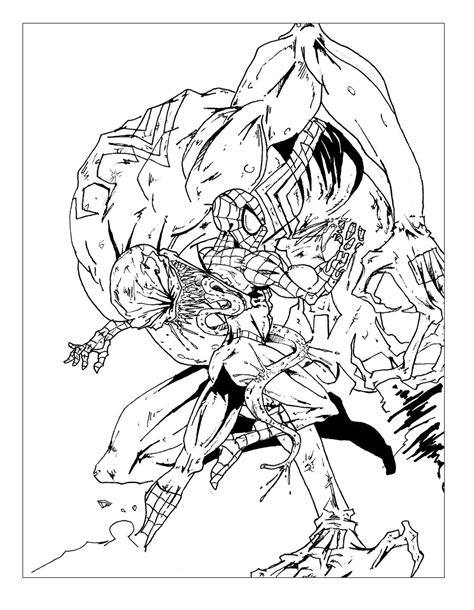 Spider Girl And Hulk Coloring Pages Zoo Animal Org Grig3 Spiderman Battle Comic Books
