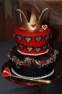 queen of hearts cake sugar pinterest