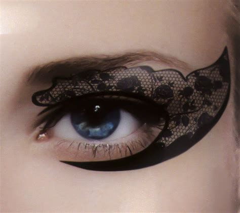henna eyeliner tattoo black lace eye liner temporary set