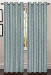 Aqua Blackout Curtains Lattice Blackout Curtain 2 Set Aqua Moshells
