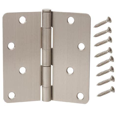 decorative door hinges everbilt 6 in x 425 in black heavy everbilt 1 75 in x 4 in satin nickel 1 4 in radius door