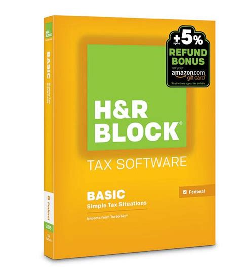 H R Block Gift Card Bonus 2017 - amazon com h r block 2015 basic tax software refund bonus offer windows download