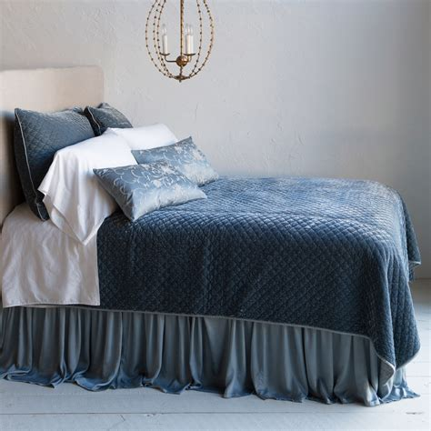 silk quilted coverlet bella notte coverlet silk velvet quilted