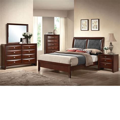espresso bedroom furniture dreamfurniture ireland black pu espresso finish bedroom set