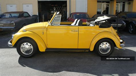 old volkswagen yellow 1969 volkswagen beetle bug convertible 2 owners only