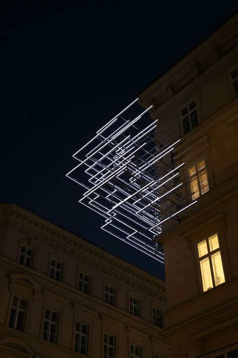 Outline Brigitte Kowanz Light Art Installation Picmia Light Installation