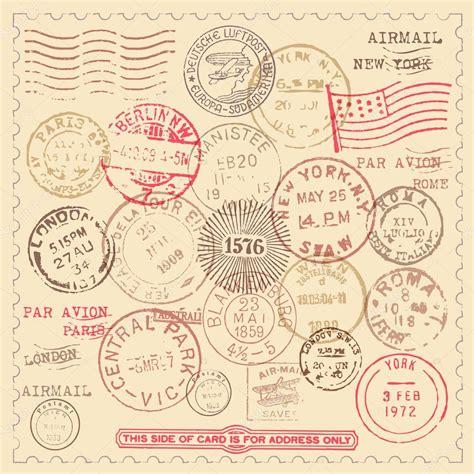 imagenes vintage de sellos conjunto de sellos antiguos vector de stock 169 giraphics