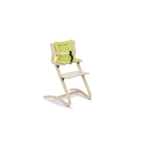coussin pour chaise haute coussin vanille pour chaise haute 233 volutive leander naturiou