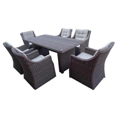 Kontiki Dining Sets Wicker Medium Ideal For 6 Seats Pompeii Outdoor Furniture