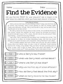 Text Detectives- Find the Text Evidence FREEBIE Sampler
