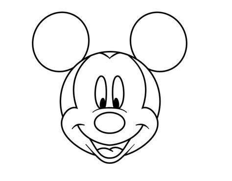 Mickey Mouse Coloring Pages Easy | easy pics to draw how to draw mickey mouse s head