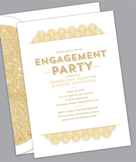 let the celebrations begin engagement party invitations