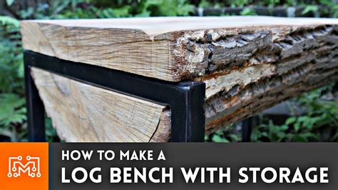 how to make a log bench with hidden storage youtube