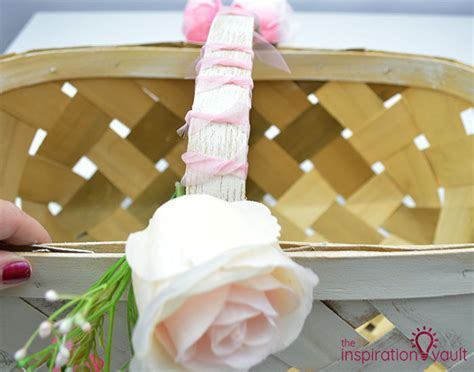 Update a Thrift Store Basket into Bohemian Wedding Decor