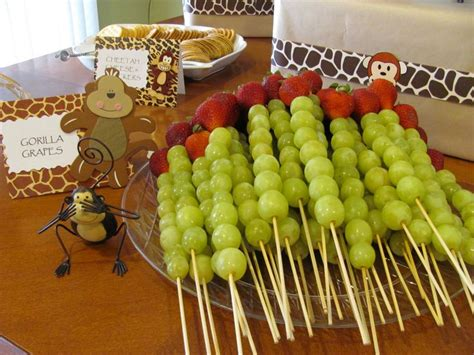 safari baby shower food shower ideas pinterest