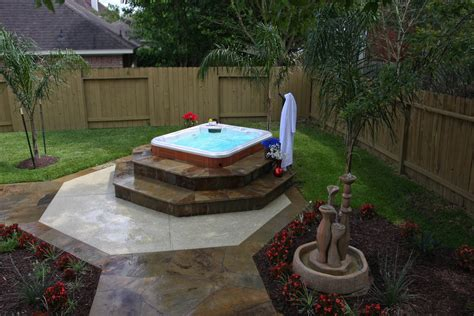 custom backyard landscaping hot tub pictures solutions custom with