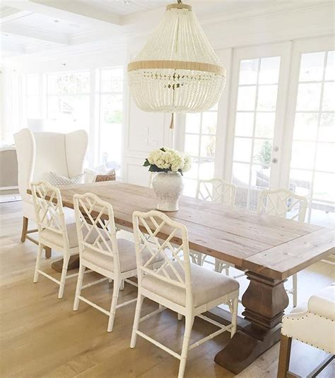 white wood dining room table 1000 ideas about bead chandelier on wood bead