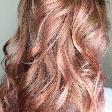 is rose gold haircolor the same as strawberry blonde haircolor beautiful rose gold balayage blush balayage beyond
