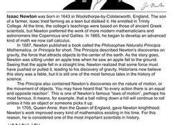 biography of isaac newton worksheet 4th grade science worksheets free printables education com