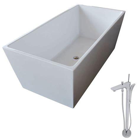 classic bathtub anzzi fjord 66 8 in acrylic classic freestanding