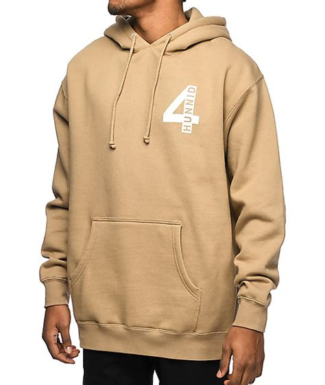 Hoodie Jaket Sweater Volvo Terlaris 4 hunnid 4 logo khaki hoodie zumiez