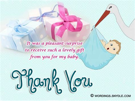 Baby Shower Gift Thank You Card Messages - thank you messages for baby shower messages and gifts wordings and messages