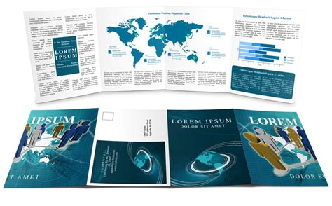 8 Panel Brochure Template by Gate Fold Brochure Mockup Cover Actions Premium