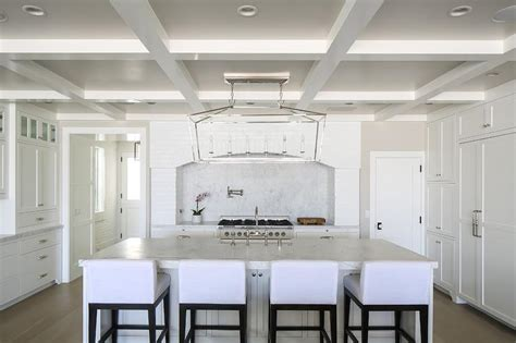 Pot Lights In Kitchen Ceiling by Reclaimed White Brick Arched Cooking Alcove Cottage Kitchen Benjamin Decorators White