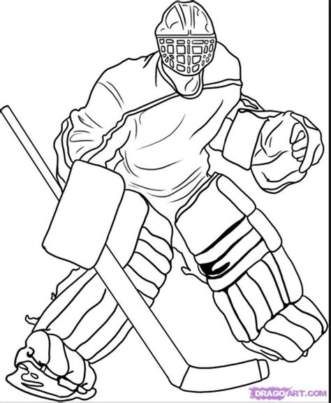 hockey goalie coloring page coloring book