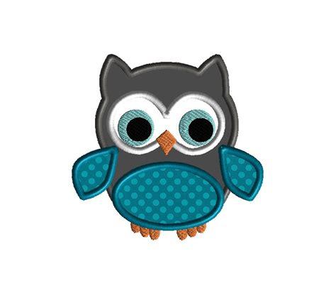 owl embroidery design applique little owl applique machine embroidery design instant download