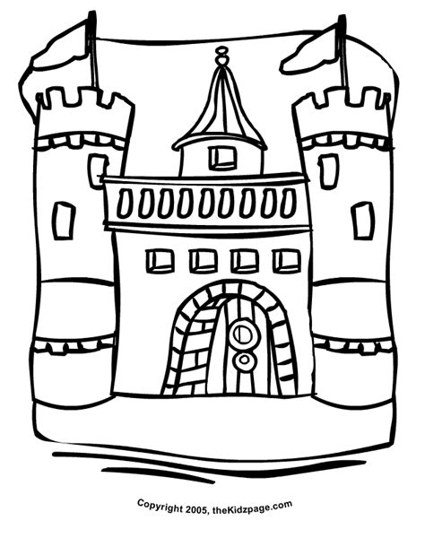 Coloring Pages Castle Coloring Home