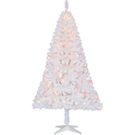 holiday time pre lit 65 madison pine white artificial christmas tree clear lights time pre lit 6 5 pine artificial tree white multi color lights