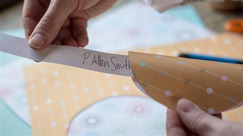 How To Make A Paper Fortune Cookie - paper fortune cookie place card how to p allen smith