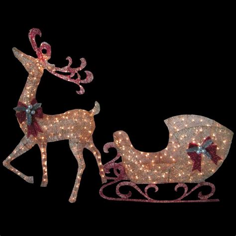 Lighted Reindeer Decorations by Reindeer Decorations Reindeer Chirstmas Decor