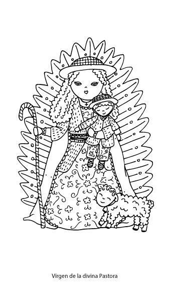 imagenes de virgen la pastora para colorear divina pastora dibujos para colorear pastoralmadredeldivinopastor