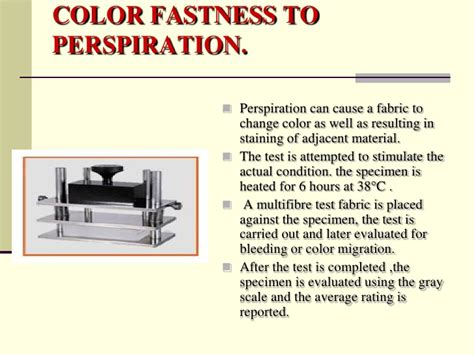 color fastness to washing colour fastness