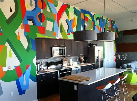 home decor funky design graffiti interiors home art murals and decor ideas
