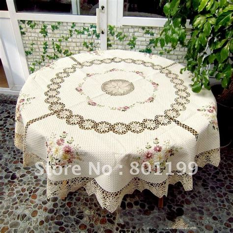 Handmade Tablecloth - big size 90 quot 220cm handmade corcheted tablecloth 220cm