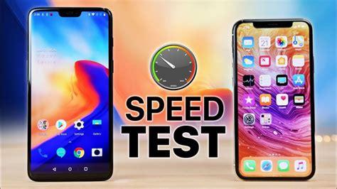 iphone 6 x oneplus 6 vs iphone x speed test