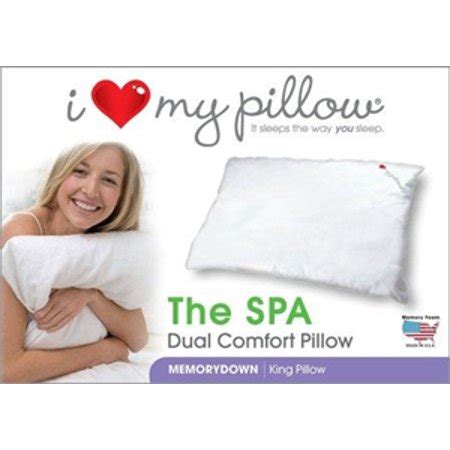 i my pillow king size i my pillow the spa dual comfort pillow king size