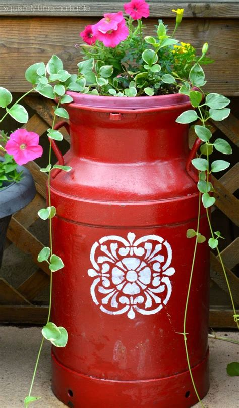 25 best ideas about painted milk cans on