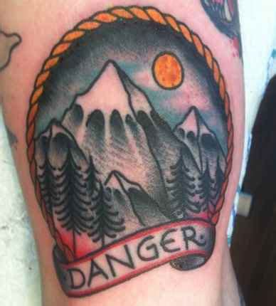 traditional mountain tattoo 37 wonderful mountain scenery tattoos