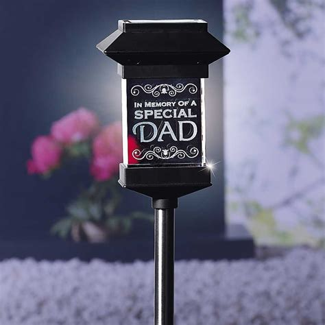 Memorial Solar Lights Crystal Solar Powered 3d Dad Memorial Light Freemans