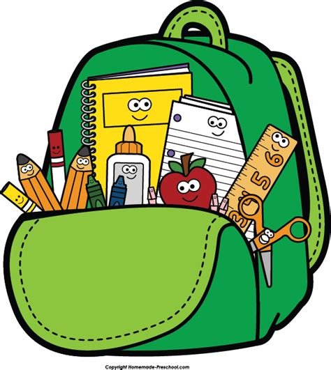 clipart domain school clipart school backpack clipart cliparts and others